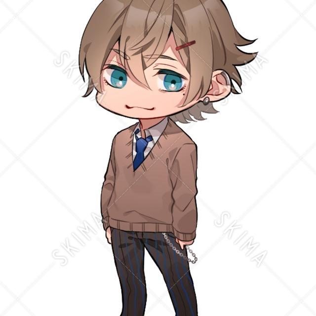 【デフォルメ】制服セーター男子