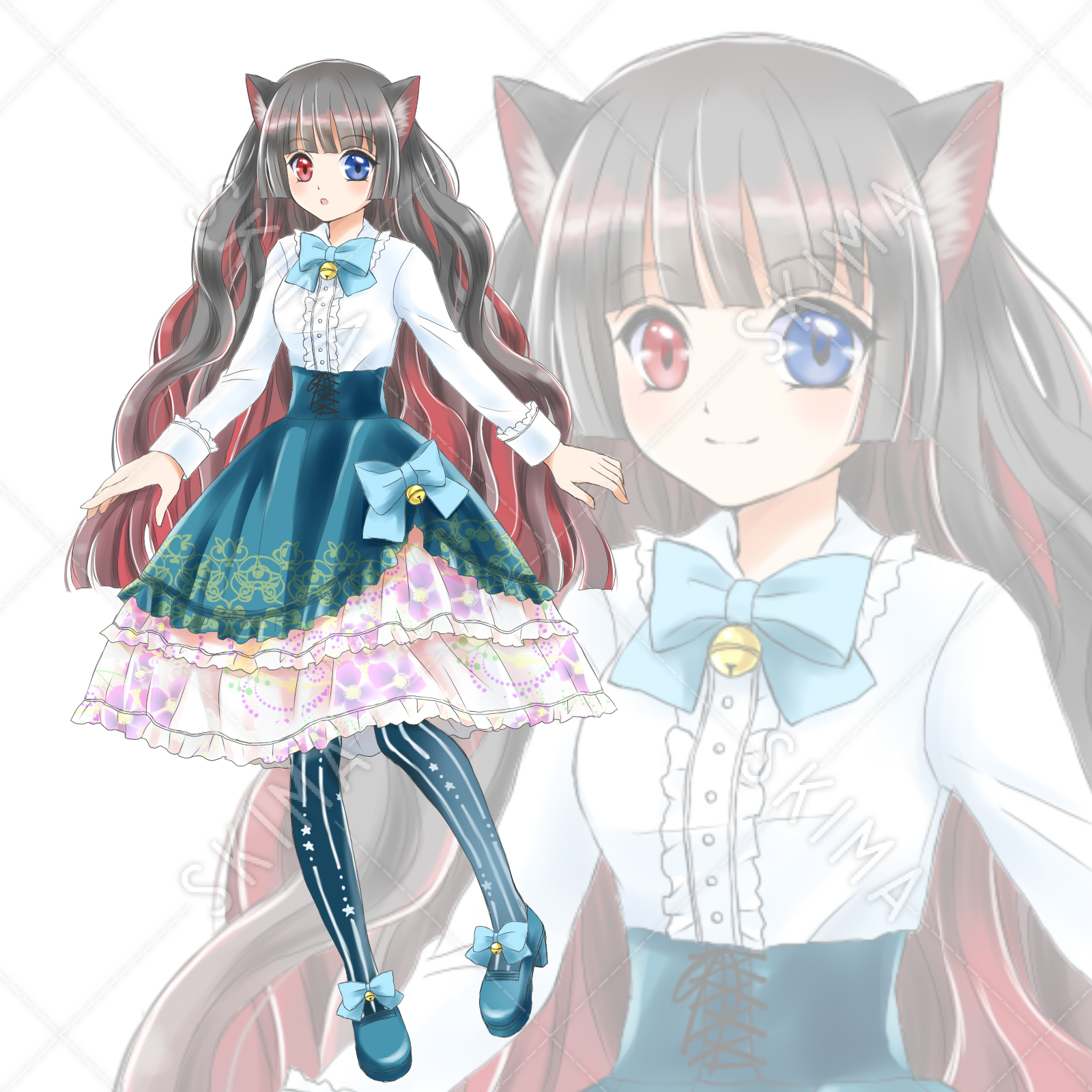 Adopt 01 猫耳の女の子 立ち絵表情差分32種値下げ中 スキマ