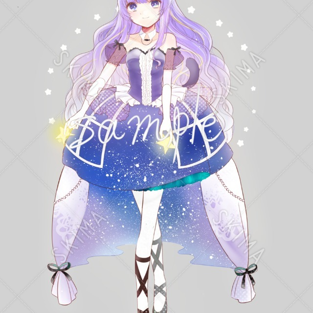 キャラクターデザイン★猫耳女の子