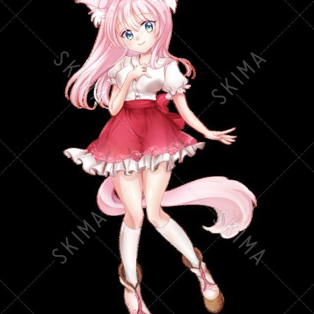 ケモミミ ピンク 女の子