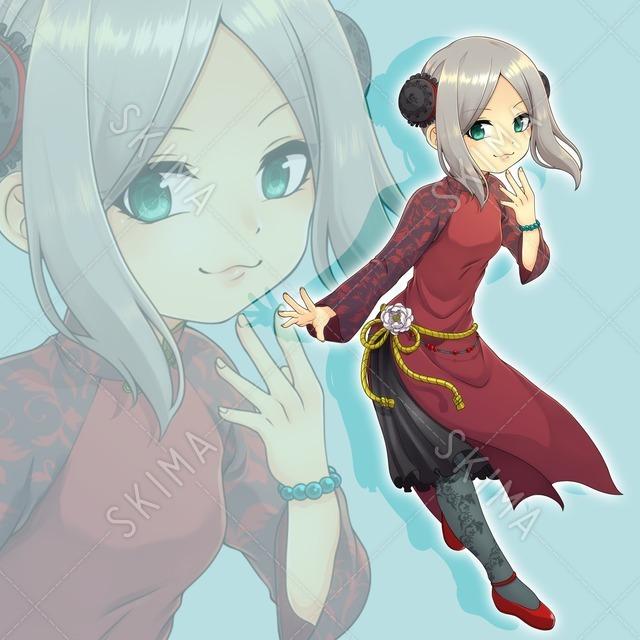 アオザイ中華風少女