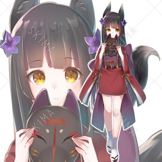 黒狐【表情差分あり】