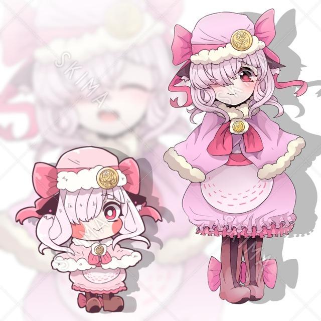 獣耳ピンクの女の子