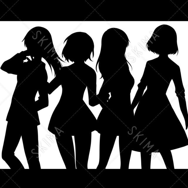 シルエットガールズ(4人)