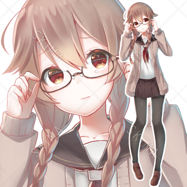 【値下げ中】おどおど眼鏡っ子【表情差分あり】