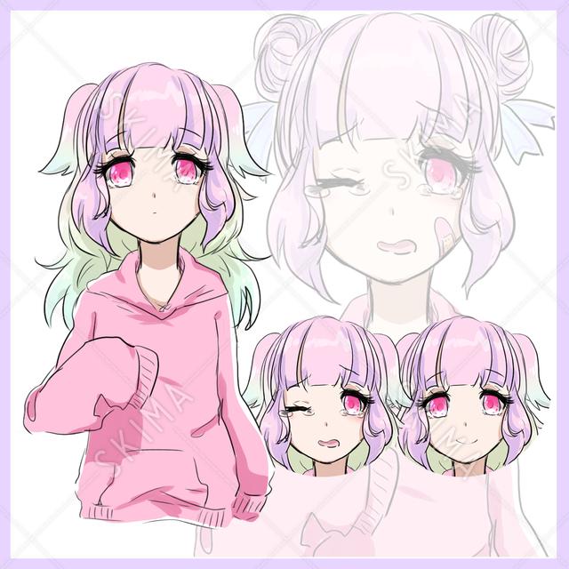 【GW限定価格】髪型差分付き!ゆめかわ・メンヘラ少女