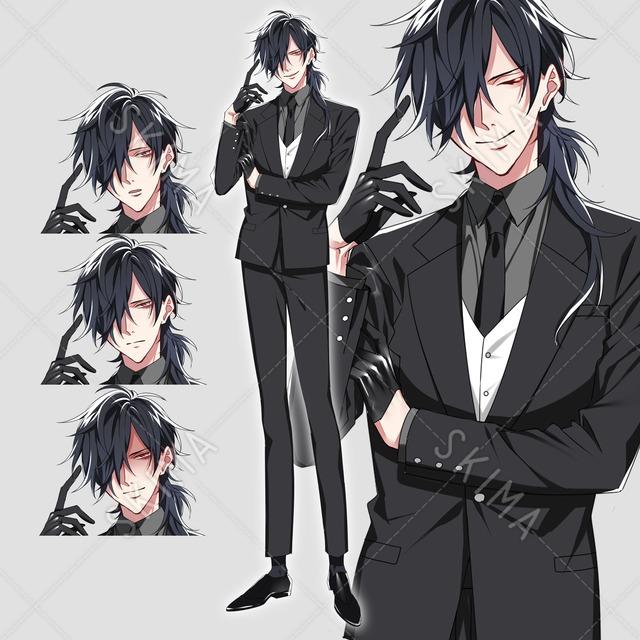 長髪の男性