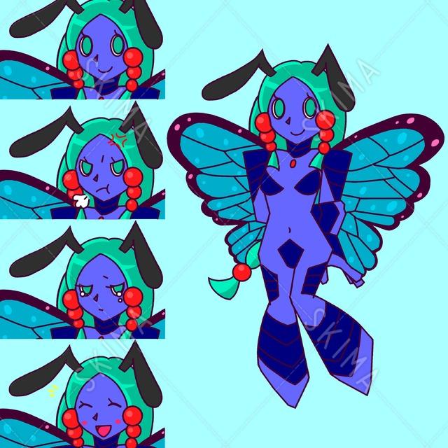 亜人のモルフォ蝶