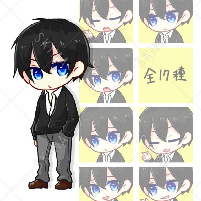 黒髪青眼の少年