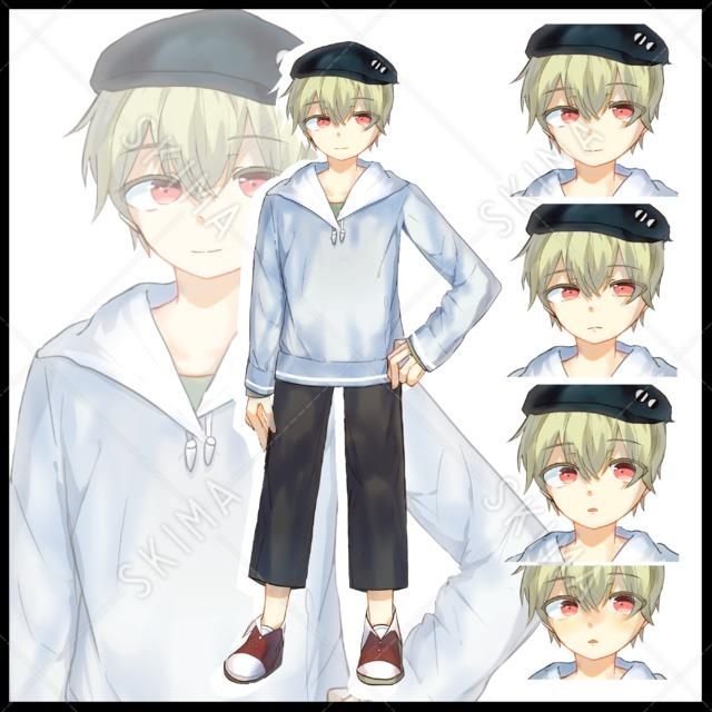 男の子、少年(通常+表情差分3枚)