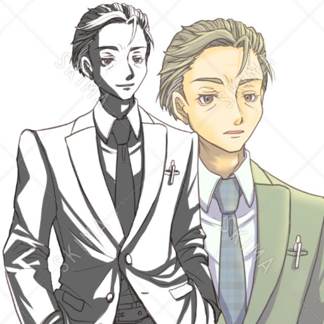 スーツ男性(表情6種)