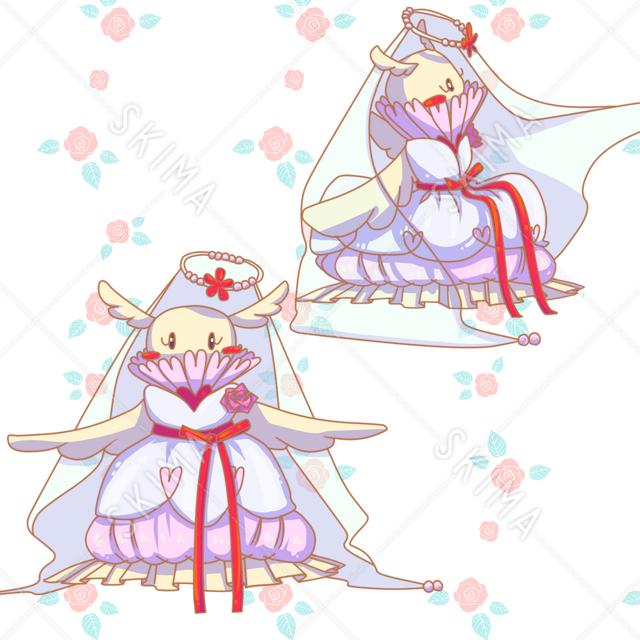 ウェディングドレス(ポーズ2種)
