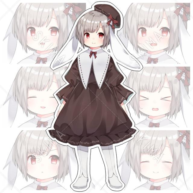 うさみみちゃん(表情10種類)