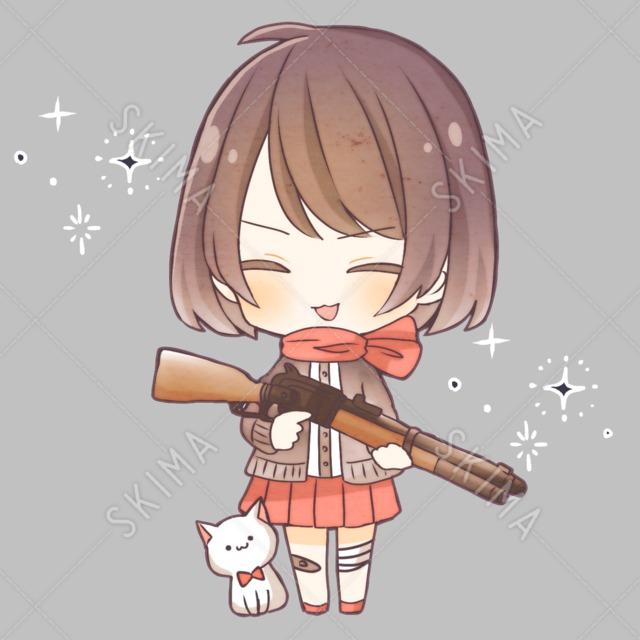 銃と猫と女の子【差分あり】