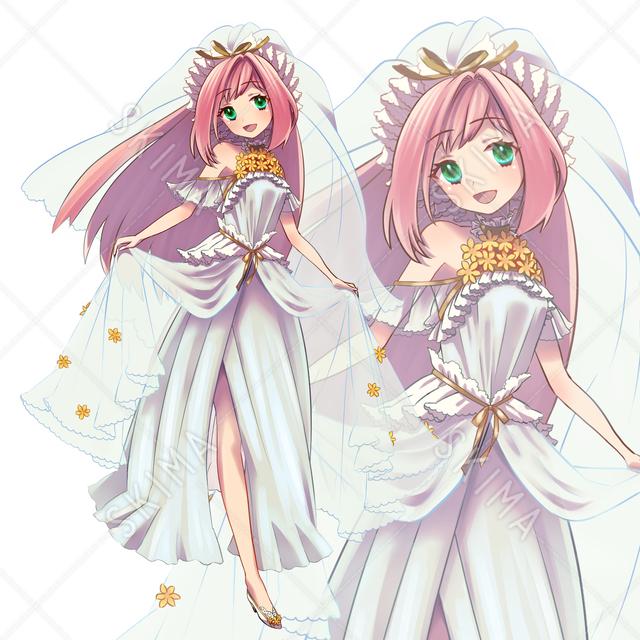 花嫁風ドレス少女