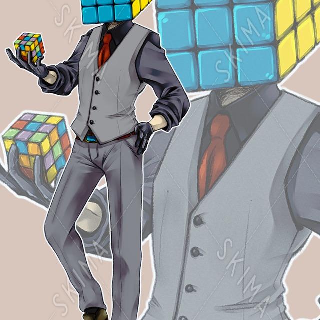異形頭◆ルービックキューブ