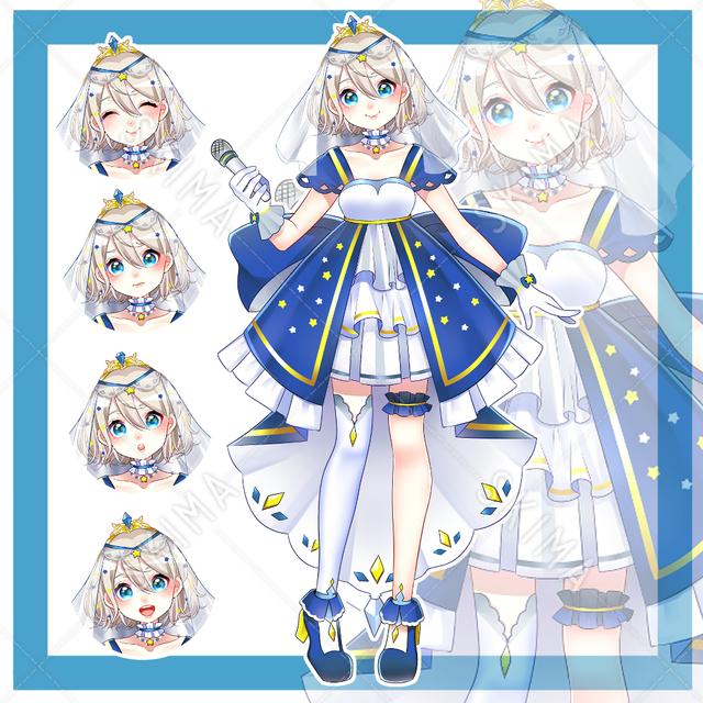星空モチーフアイドル系の女の子