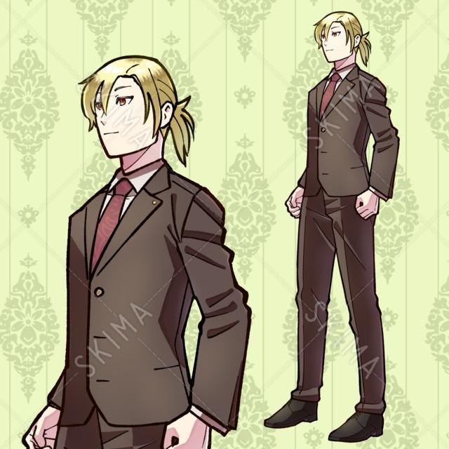 TRPG男性キャラ (表情4種+10種まで無償追加可能)