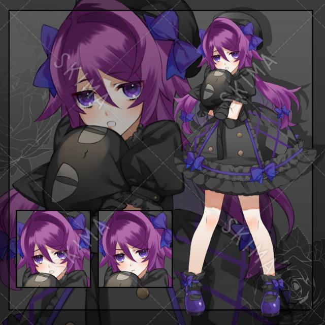 紫髪の少女(表情3種+差分3種)