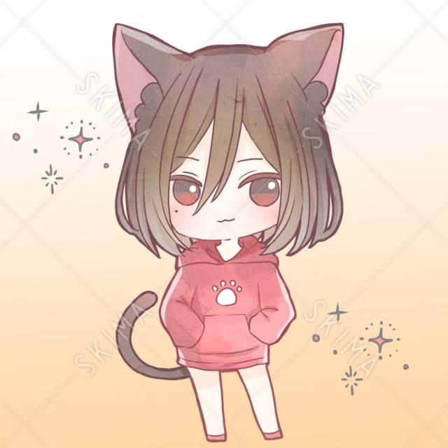 中性的な黒猫【差分あり】