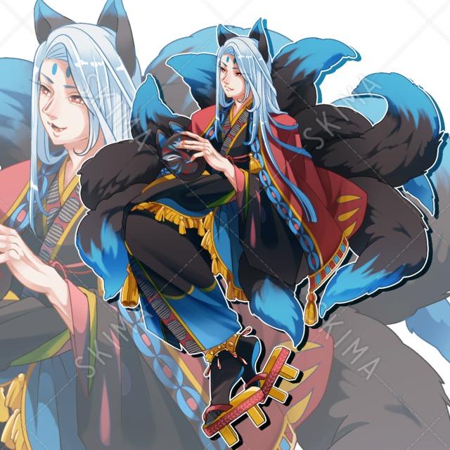 九尾の狐(表情差分8種)