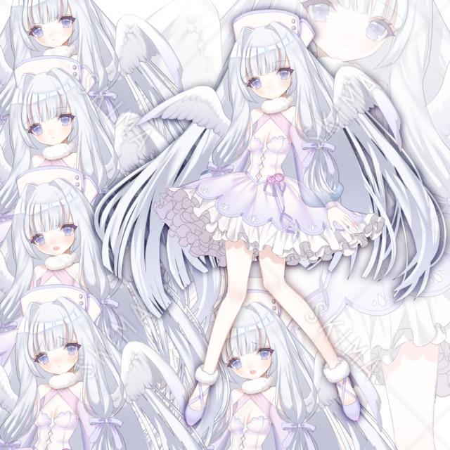 羽付きの女の子【表情6種】