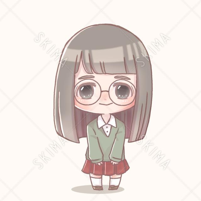 制服眼鏡の女の子