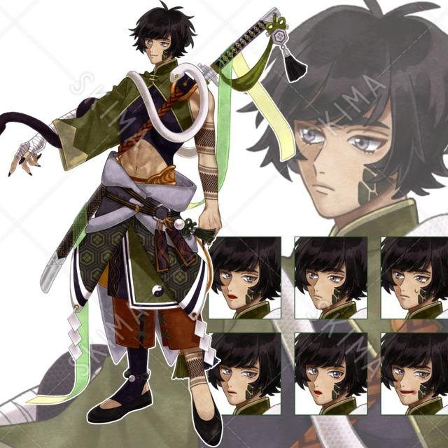 幻獣モチーフ×男性キャラクター