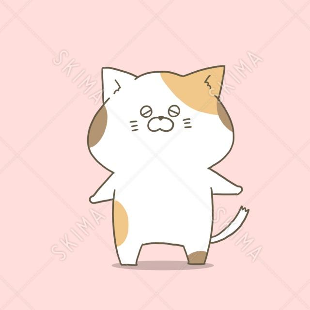 タレ目の三毛猫さん10枚