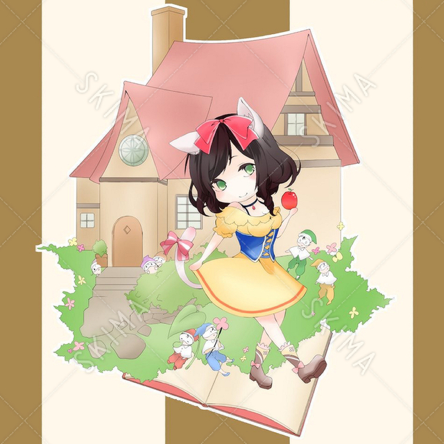 猫モチーフ白雪姫ちゃん