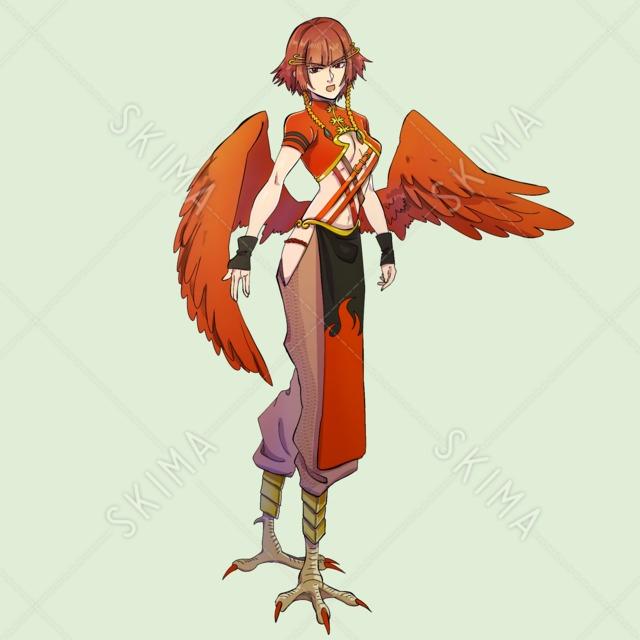 鳥脚の女性