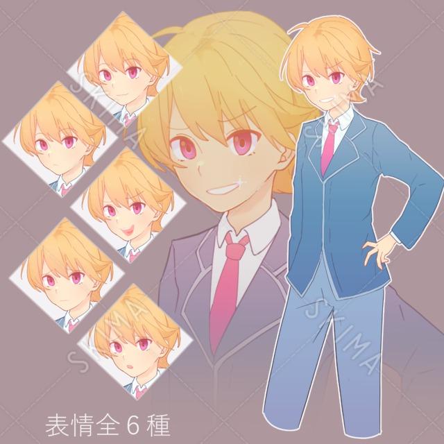 制服 金髪 少年