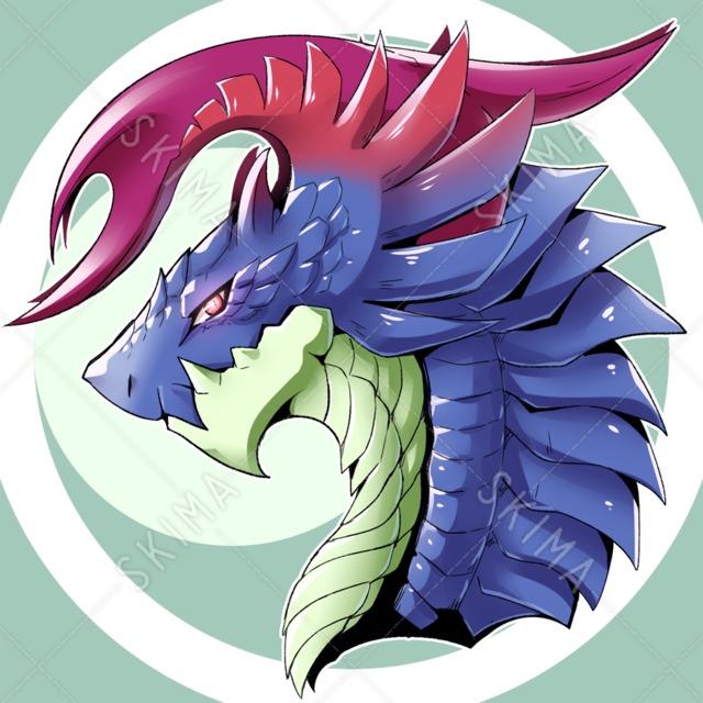 【アイコン+デザイン販売】ドラゴンヘッド
