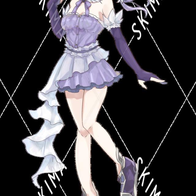 紫カラーの女の子