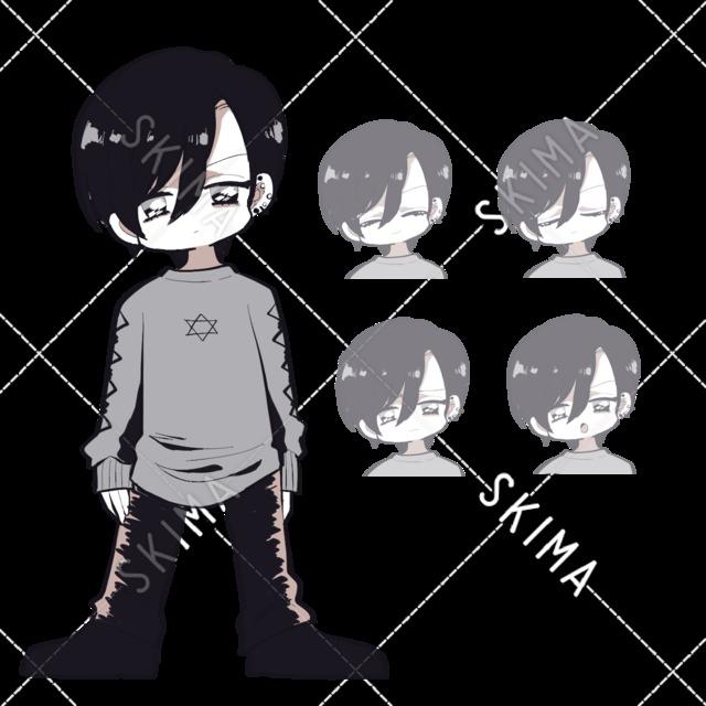 男の子立ち絵+表情差分4種セット