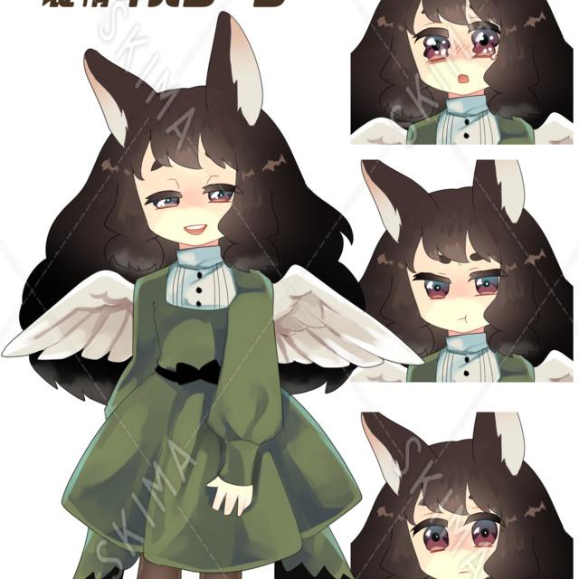 【お値下げ】ファンタジー系デザイン うさみみ 羽 女の子