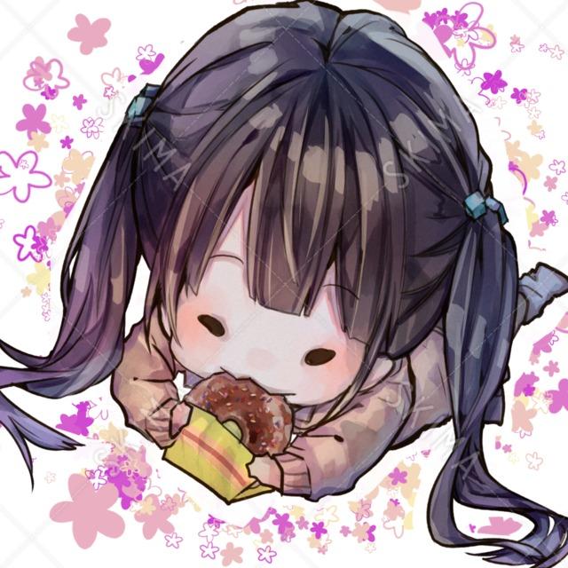 ドーナツ少女【アイコンなどに!】