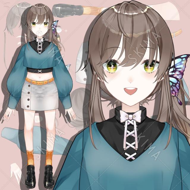 蝶の髪飾り[パーツ分け済み]