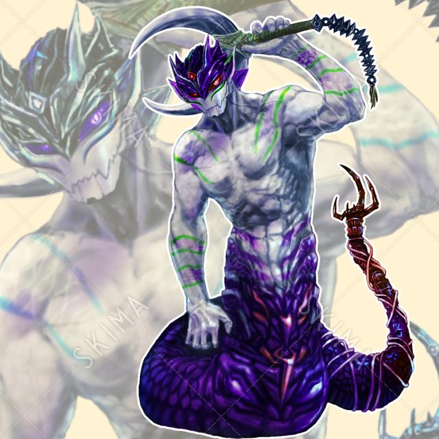 蛇男(通常紫/氷雪青)
