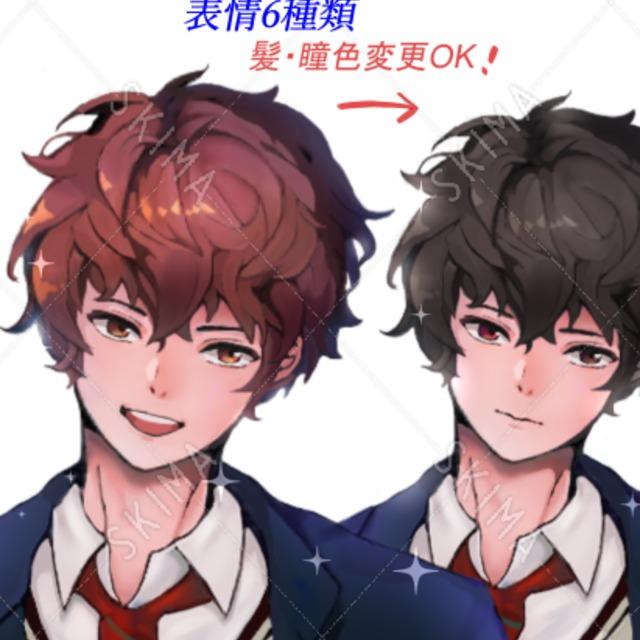 男子学生(髪・瞳色変更OK!)