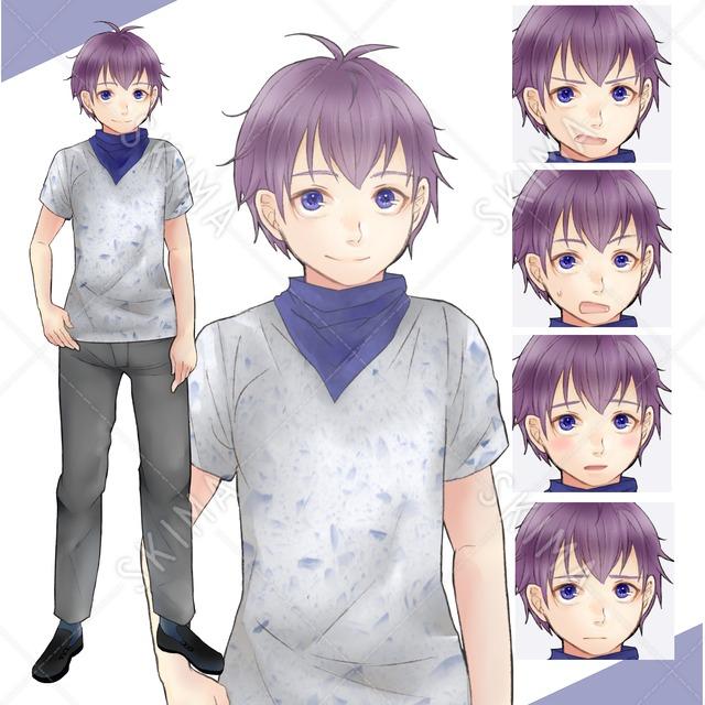 Tシャツにバンダナの少年