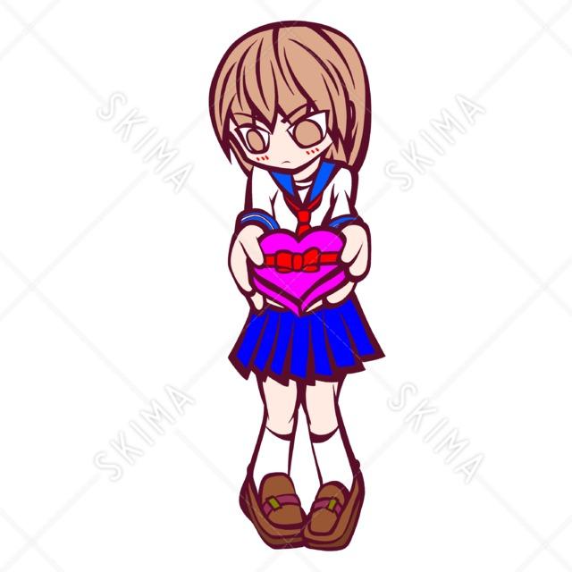 チョコを贈る女の子