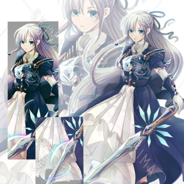 女の子×令嬢×騎士(加工差分有り)