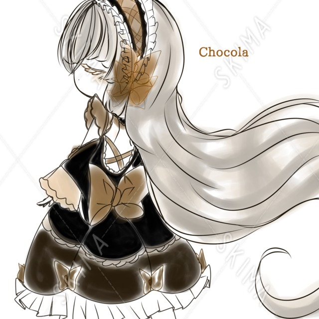 classical ribbon Doll
