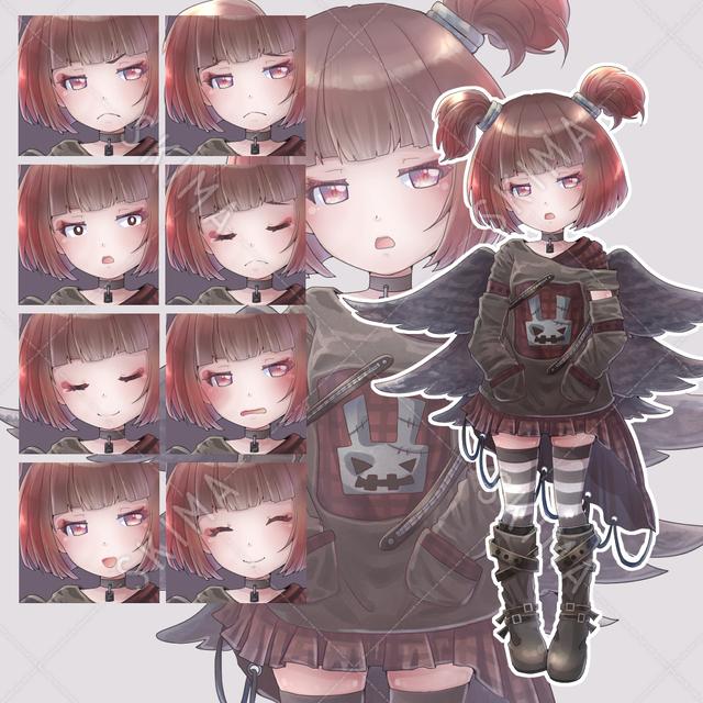 【表情差分8種類】パンクスタイルの幼女