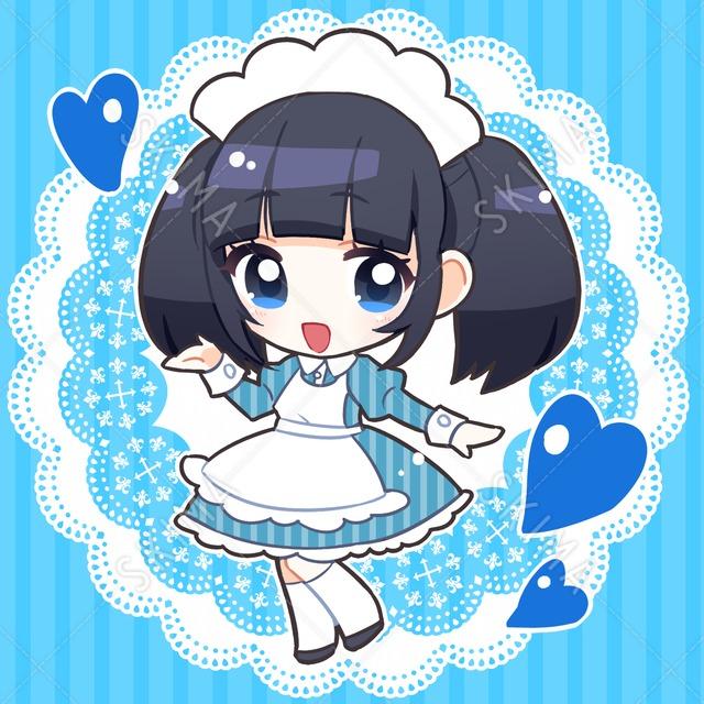 【SD】青フリルワンピース女の子