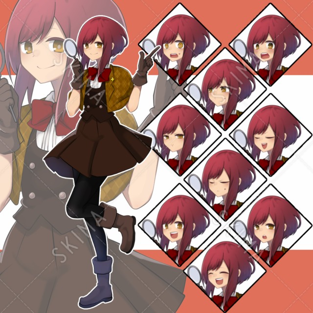 赤髪の探偵少女