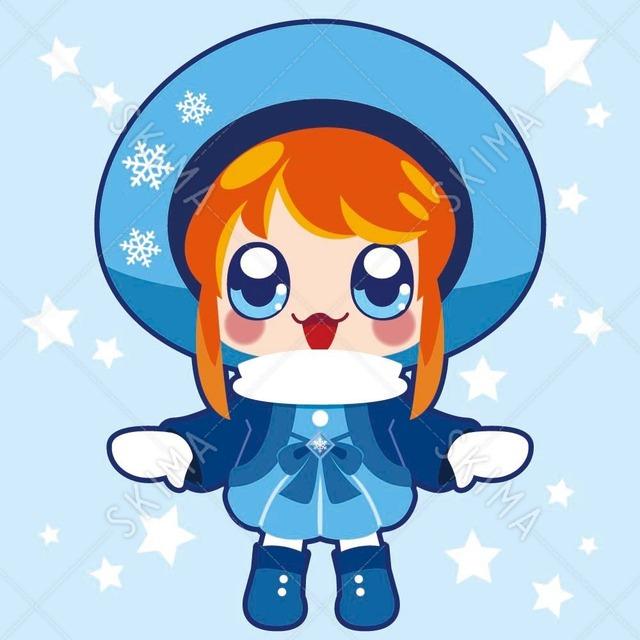 冬モチーフのキャラクター