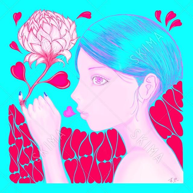 運命の赤い蓮(青い)