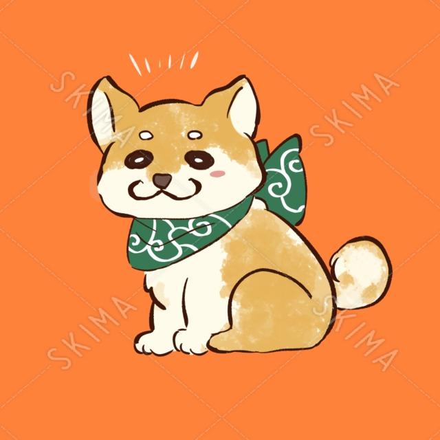 柴犬デフォルメ4枚(透過)